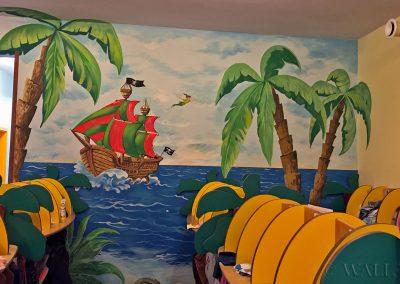 malowidło ścienne - szatnia w przedszkolu