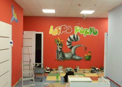 malowidło w przedszkolu Luppo Puppo