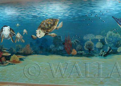 malowidło ścienne - rafa koralowa
