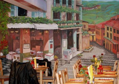 malowidło ścienne w restauracji - Warszawa