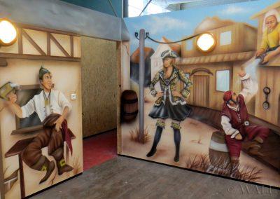 obrazy ścienne w sali zabaw