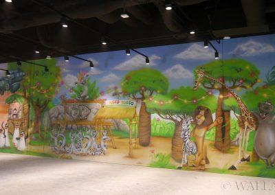 malowidło ścienne Madagaskar - sala zabaw