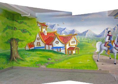 malowidło ścienne - sala zabaw