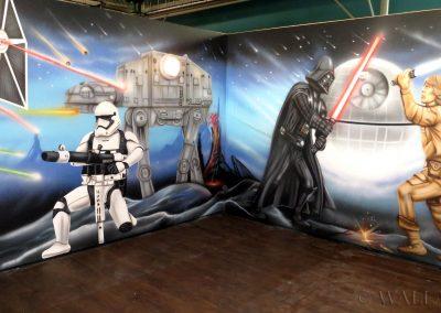 malowidła ścienne - sala urodzinowa - Star Wars