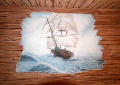 obraz ścienny - namalowany statek
