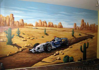 malowidło ścienne w sypialni