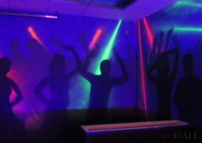 pokój urodzinowy - malowanie fluorescencyjne UV -  malowidła ścienne