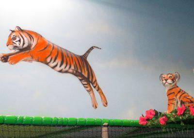 malowidło ścienne - tygrys