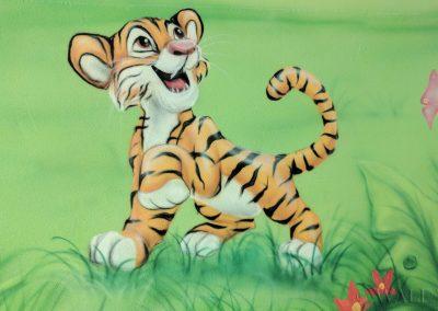 malowidło ścienne - tygrysek