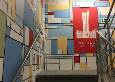 malowidła ścienne - klatka schodowa Warsaw Spire