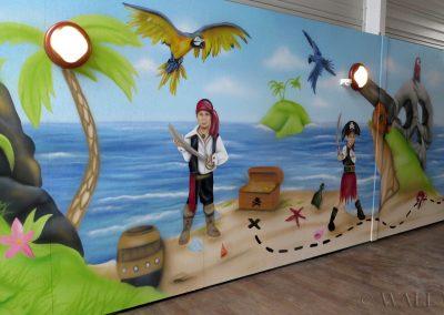 sala urodzinowa dla dzieci - piracka wyspa skarbów