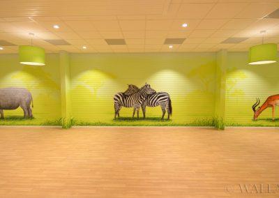 malowidła ścienne - namalowane zwierzęta