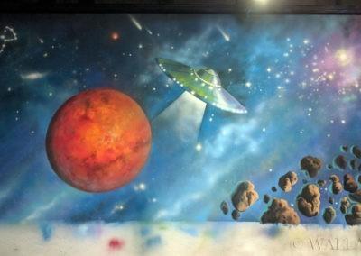 rakieta UFO startująca z Marsa