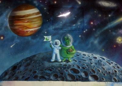 spotkanie z ufoludkiem na księżycu Jowisza