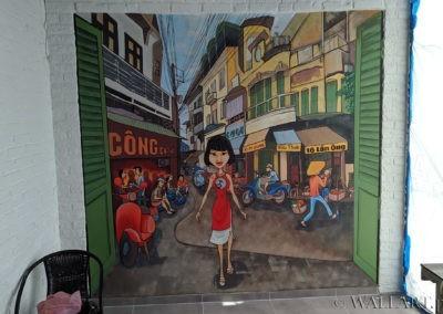 malowidło ścienne w barze wietnamskim