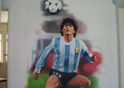 Diego Maradona - namalowany mural