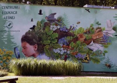 wykonany mural w nadleśnictwie Celestynów