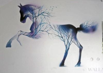namalowany koń - mural