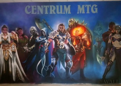 mural Magic The Gathering - postacie
