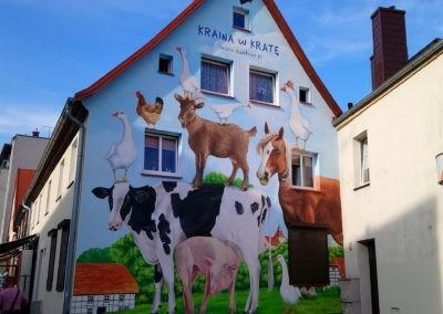 wykonany mural - zwierzęta