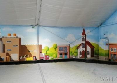 namalowane budynki