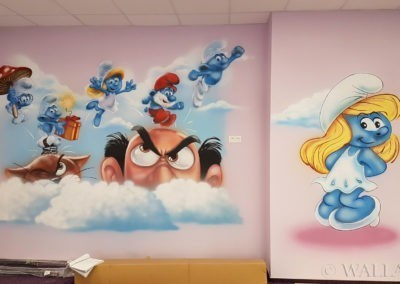 malowidło Smurfy