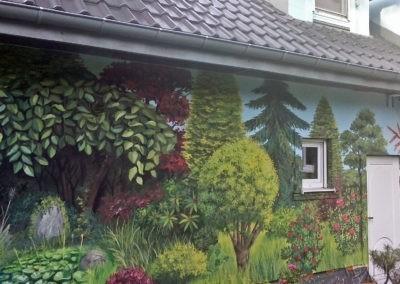 prywatny ogród - mural