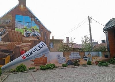 wykonany mural - Meble Bryłka Dobrodzień