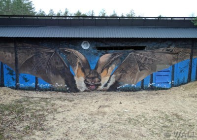 mural z nietoperzem