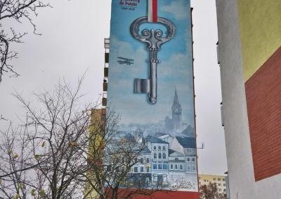 wykonany mural z kluczem w Bydgoszczy
