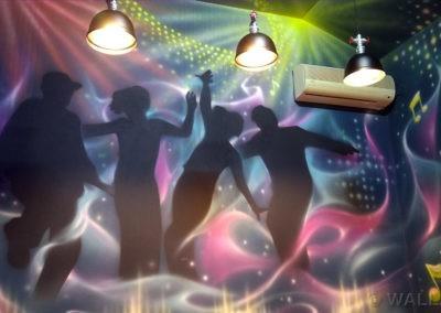 pokój urodzinowy disco - malowidło