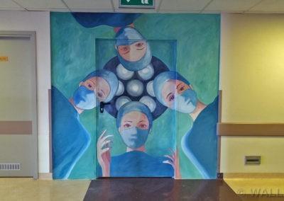 wykonane malowidło - mural w szpitalu MSWiA, dział chirurgii
