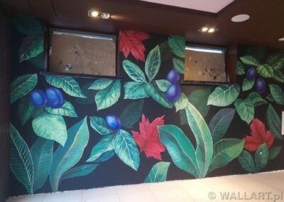 mural w restauracji