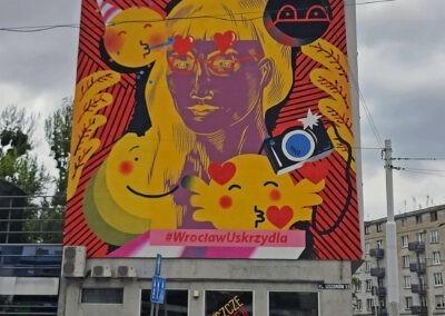 mural reklamowy - Moliera2, Wrocław