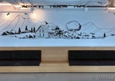 malowidło w biurze